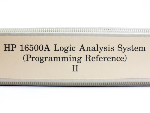 HP 16500A  Logic Analysis System Programming Reference II