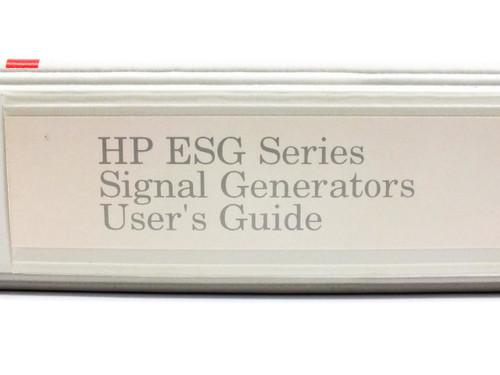 HP ESG Series  Signal Generators User's Guide