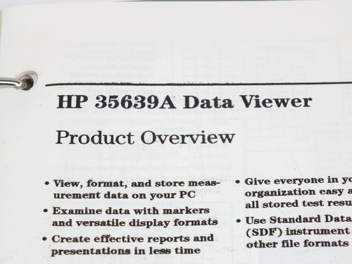 HP  Standard Data Format Utilities  User's Guide