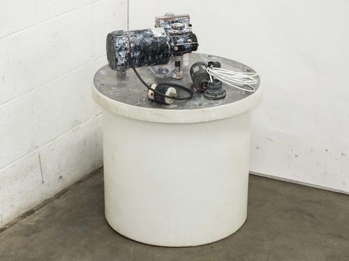 "Ryan Herco 17 Gallon  HDPE Tank with 5"" Mixer & Baldor Motor AS-IS BAD Motor"