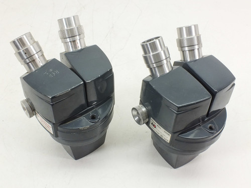 Lot of 2  American Optical Stereo Star 569 Microscope Heads -AS IS- Damaged