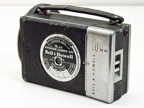 Bell & Howell Model 200 16mm Magazine Turet Camera 8~64 FPS - No Lenses - As Is