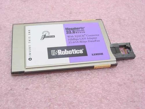 US Robotics 33.6K Megahertz PCMCIA Modem/Ethernet (XJEM3336)