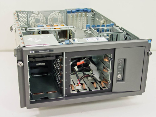 "HP ML370 Proliant Computer Server in 19"" Rackmount - Missing Components - As Is"