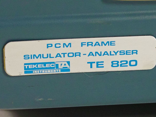Tekelec TE820B  DSI Frame Analyzer - No Power As Is