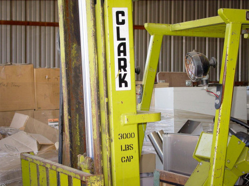 Clark TW 30B 3,000 Pound 3-Wheel Forklift - As Is