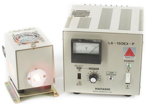 Hayashi LA-150EX-P 115V Microscope Light Source PSU with ACT Lamp Housing & Bulb