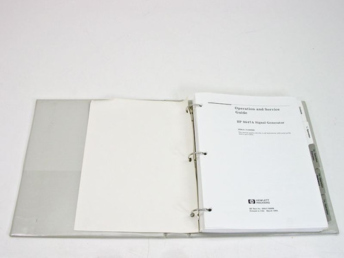 HP 08647-90006 8647A Operation & Service Manual - March 1994 - No Schematics