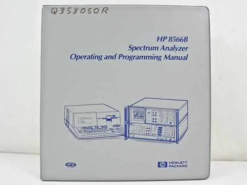 HP 8566B  Operating & Programming Manual