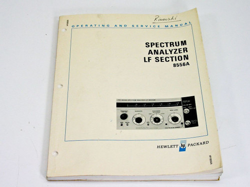 HP 08556-90004 8556A Spectrum Analyzer LF Section - Operating & Service Manual