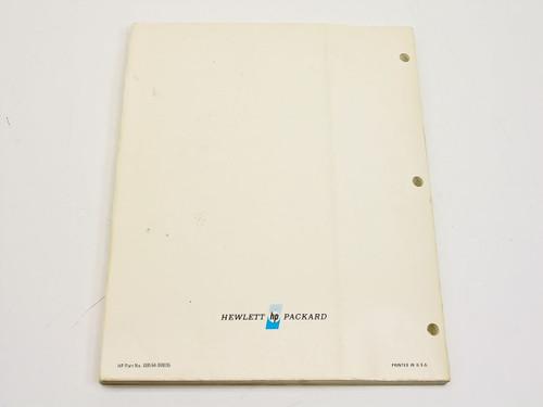 HP 8554B Spectrum Analyzer RF Section Operating & Service Manual