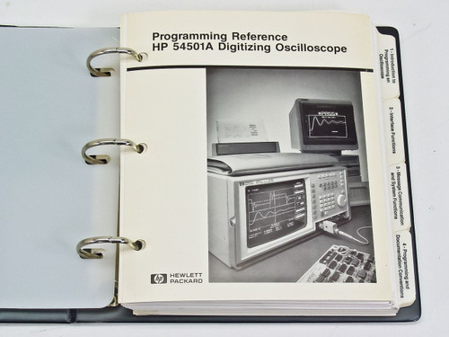 HP 54501A  Programming Reference