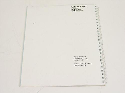HP 4934A  Operating & Calibration Manual Supplement