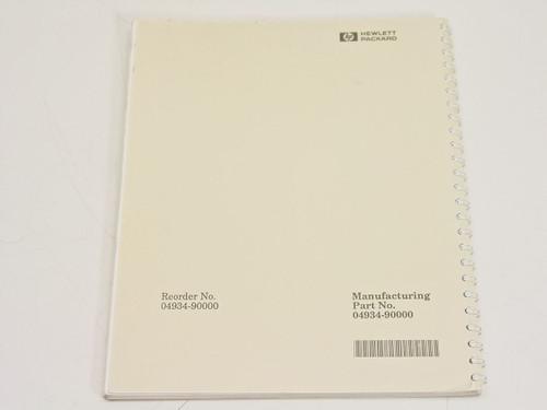 HP 4934A  Operating & Calibration Manual