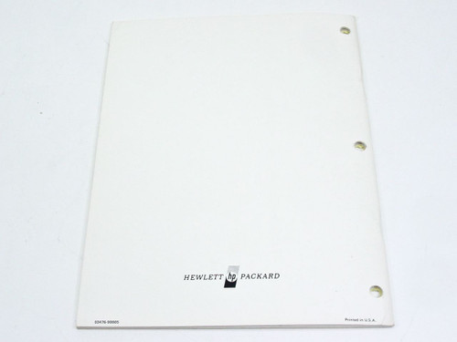 HP 3476B  Operating & Service Manual