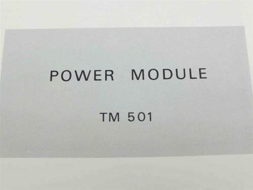 Tektronix TM501 Power Module  Instruction Manual