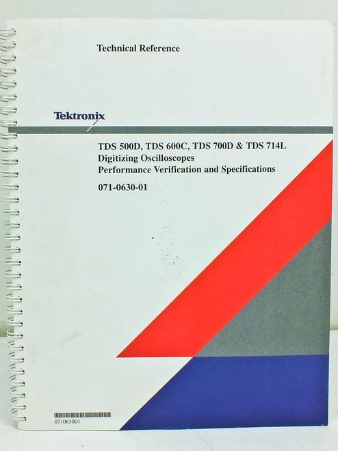 Tektronix 071-0630-02  TDS 500D 600C 700D 714L Oscilloscope Technical Reference