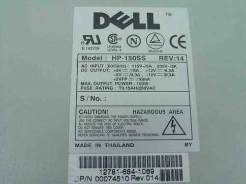 Dell 74510 150W 20-Pin ATX Power Supply - HP-150SS