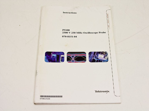 Tektronix Instruction manual P5100 2500 V 250 MHz