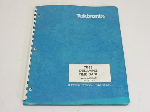 Tektronix 7B85  Instruction manual