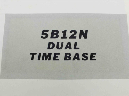 Tektronix 5B12N  Instruction Manual