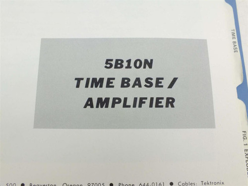 Tektronix 5B10N  Instruction manual