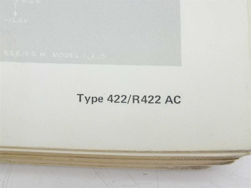 Tektronix Instruction Manual 422 / R422 with AC Power Supply