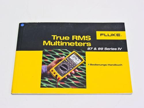 Fluke 87 & 89 Series IV  Users Manual in German