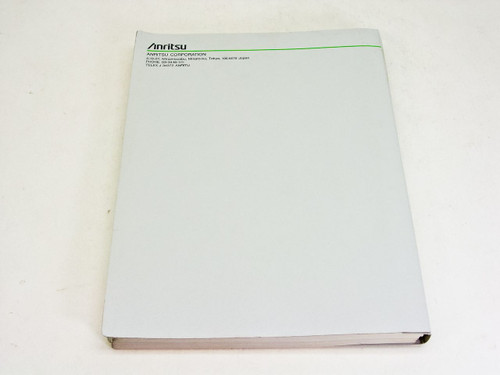 Anritsu Operation Manual vol. 7 1ere edition MP1570A Sonet/SDH/PDH/ATM Analyzer