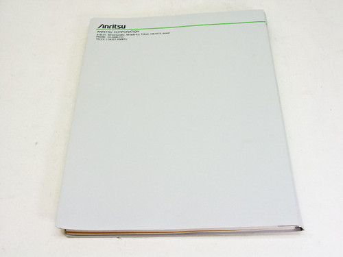 Anritsu Operation Manual vol.4 1 ere edition MP1570A Sonet/SDH/PDH/ATM Analyzer