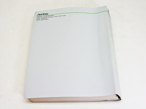 Anritsu Operation Manual vol.1 1ere edition MP1570A Sonet/SDH/PDH/ATM Analyzer