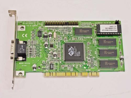 ATI 109-34000-10 PCI VGA Video Card - 3D Rage II+DVD MACH64 GT 113-34008-1-01