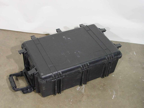 Unbranded Heavy Duty Back Waterproof Rolling Travel Case - Missing Wheel - As Is