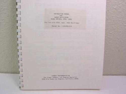 Singer Instrumentation Instruction Manual for Sweep Oscillator 6615 1-500783-310