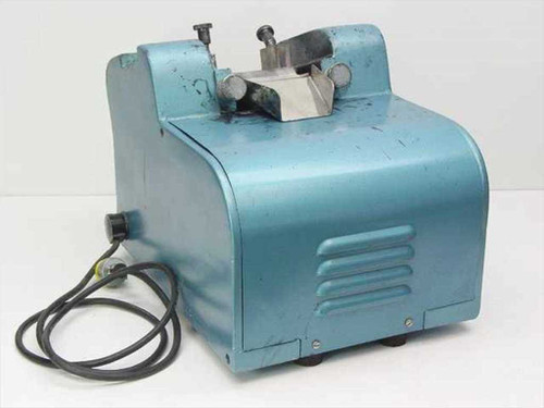 Burnett Bros Blue Industrial Label Applicator - HEAVY - 115 Volt AC - As Is