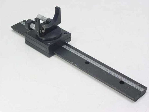 "Oriel Optical Alignment Rail with 3"" x 3.5"" Stage, Mirror Mount & 2 Micrometers"