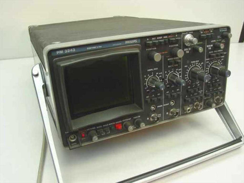 Philips PM 3243 10 MHz Dual-Beam 2-Channel Storage Oscilloscope - As Is / Parts