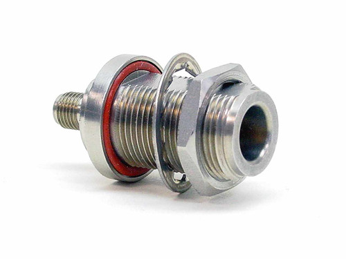 Stainless Steel  N-F Bulkhead to SMA-F Adapter