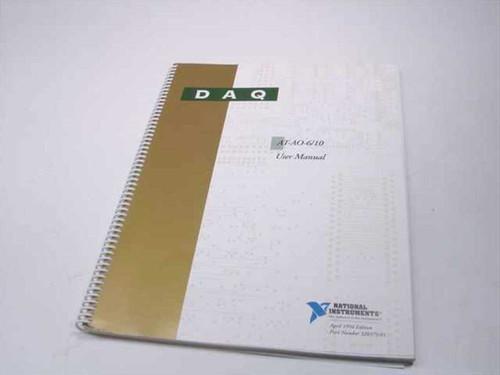 National Instruments AT-A0-6/10  DAQ User Manual
