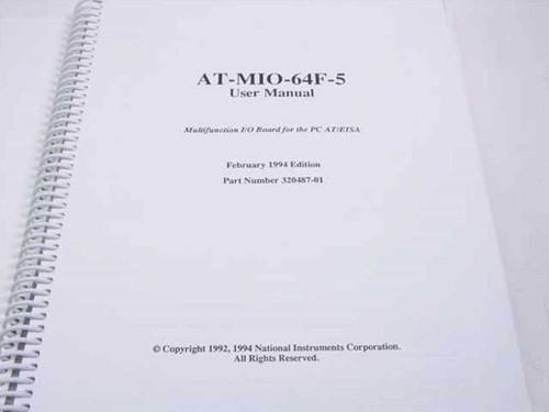 National Instruments 320487-01 DAQ AT-MI0-64F-5 User Manual