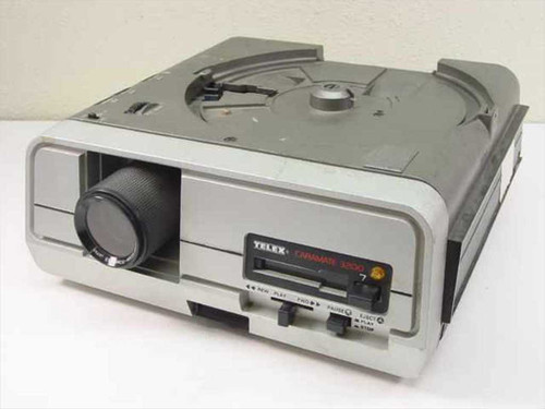 Telex Caramate 3200 Slide Projector w/ Apollo Zoom Lens 100-150mm F/3 - AS IS
