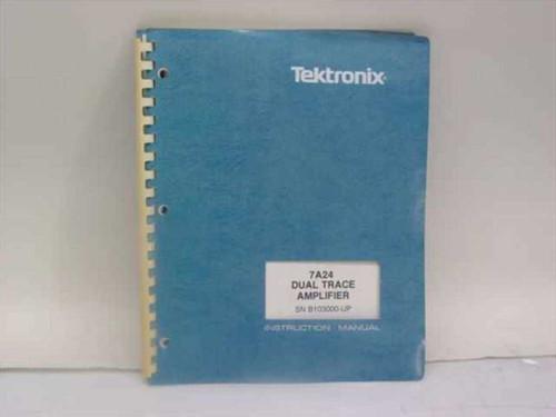 Tektronix 070-2391-00  7A24 Dual Trace Amplifier Instruction Manual