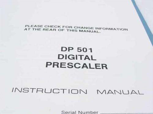 Tektronix 070-4332-00  DP 501 Digital Prescaler Instruction Manual