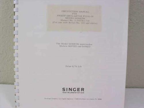 Singer Instrumentation 1-500783-318  Instruction Manual for Sweep Oscillator Plu