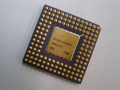 Intel SX217 20Mhz CPU A80386DX-20 / 386DX-20 - Socket PGA132 Processor - GOLD