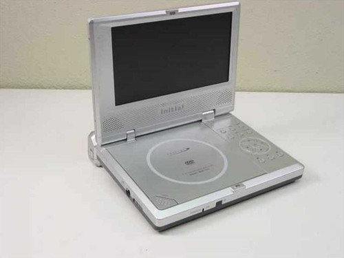 "Initial IDM-1731 7"" Portable DVD Player -Loose Hinge No Display- As Is For Parts"