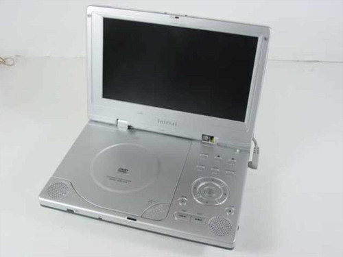 "Initial DVD-1810 8"" Portable DVD Player -Broken Hinge No Power- As Is For Parts"