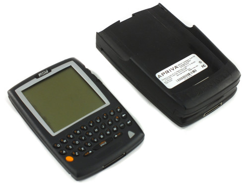 RIM R857D-2-5 Blackberry w/ Apriva Cradle Barcode Scanner B5700E - As Is