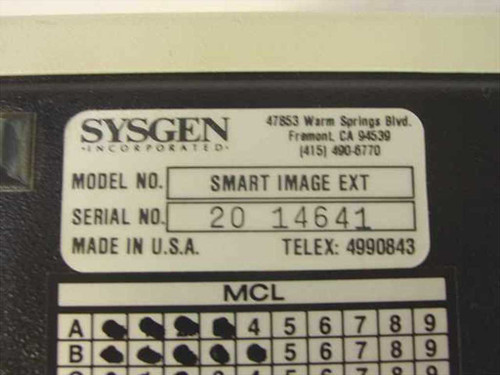 Sysgen Smart Image EXT 40MG External Tape Drive Unit SYS226201