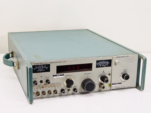 Singer 6201 Signal Generator with 6202 Plug In 61 KHz to 8 MHz As Is / For Parts